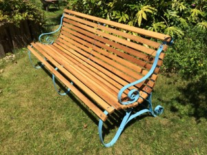 Restored Victorian Bench Using Robinia Timber Hardwood Robinia Timber Structure - Robinia Playground Equipment Manufacturer West Sussex Surrey Kent