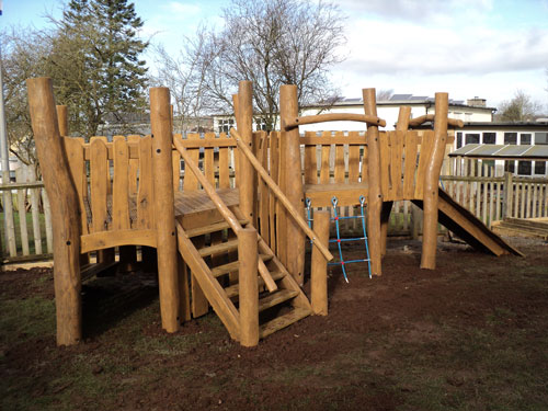 Bespoke Robinia Timber Play Den Fabricators, Sculptures, Carvings Stockists, Suppliers, Logs, Planks Landscape Contractors working for Landscape Architects.