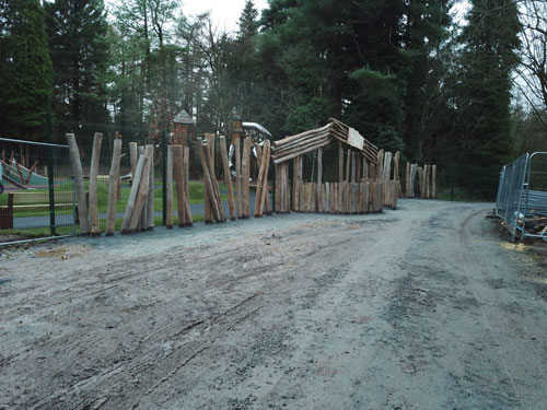Hillsborough Forest Park FSC® Certified Stocks of Hardwood Robinia Timber Importers Stockists Robinia Suppliers Posts Boards Decking Shingles Shakes