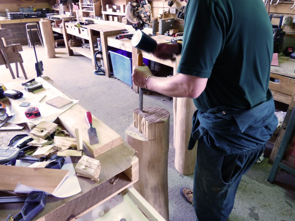 Workshop In Action - Hardwood Robinia Playground Equipment Manufacturer West Sussex East Sussex Surrey Hampshire London Berkshire