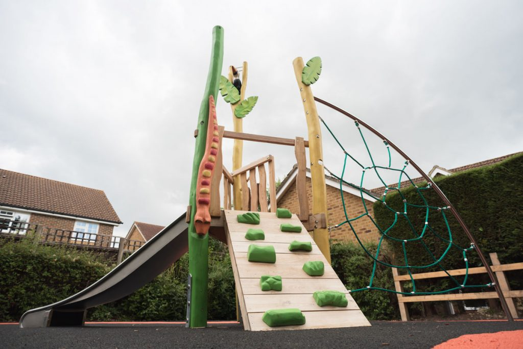 Wren Close Project Horsham DC - Hardwood Robinia Playground Equipment Manufacturer West Sussex East Sussex Surrey Hampshire London Berkshire