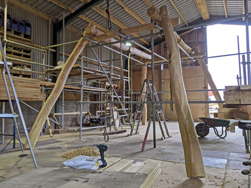 Massive Snake Swing Under Construction! - Hardwood Playground Equipment Manufacturer West Sussex East Sussex Surrey Hampshire London Berkshire
